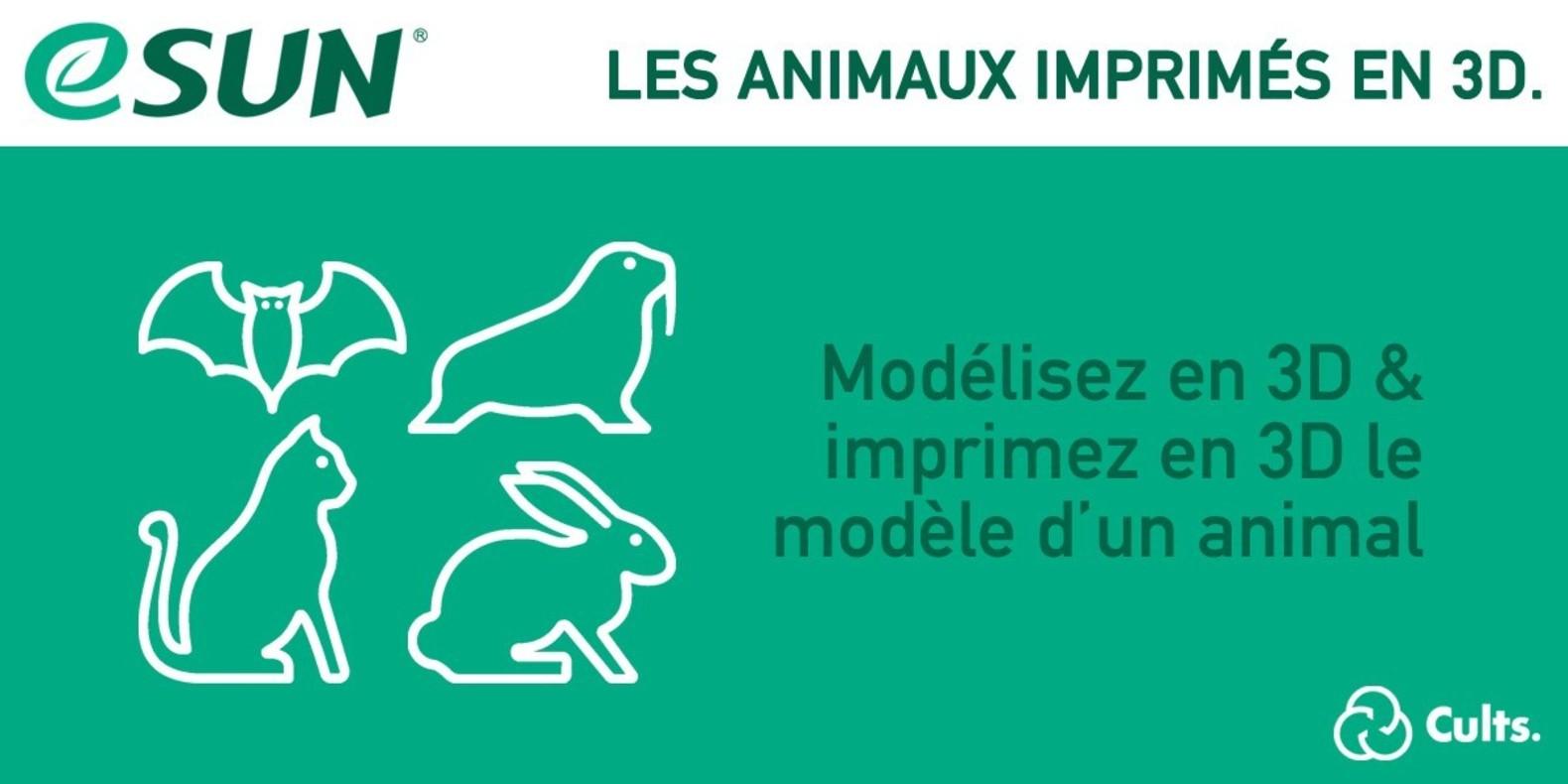 Concours d'impression 3D avec eSun - les animaux imprimés en 3D