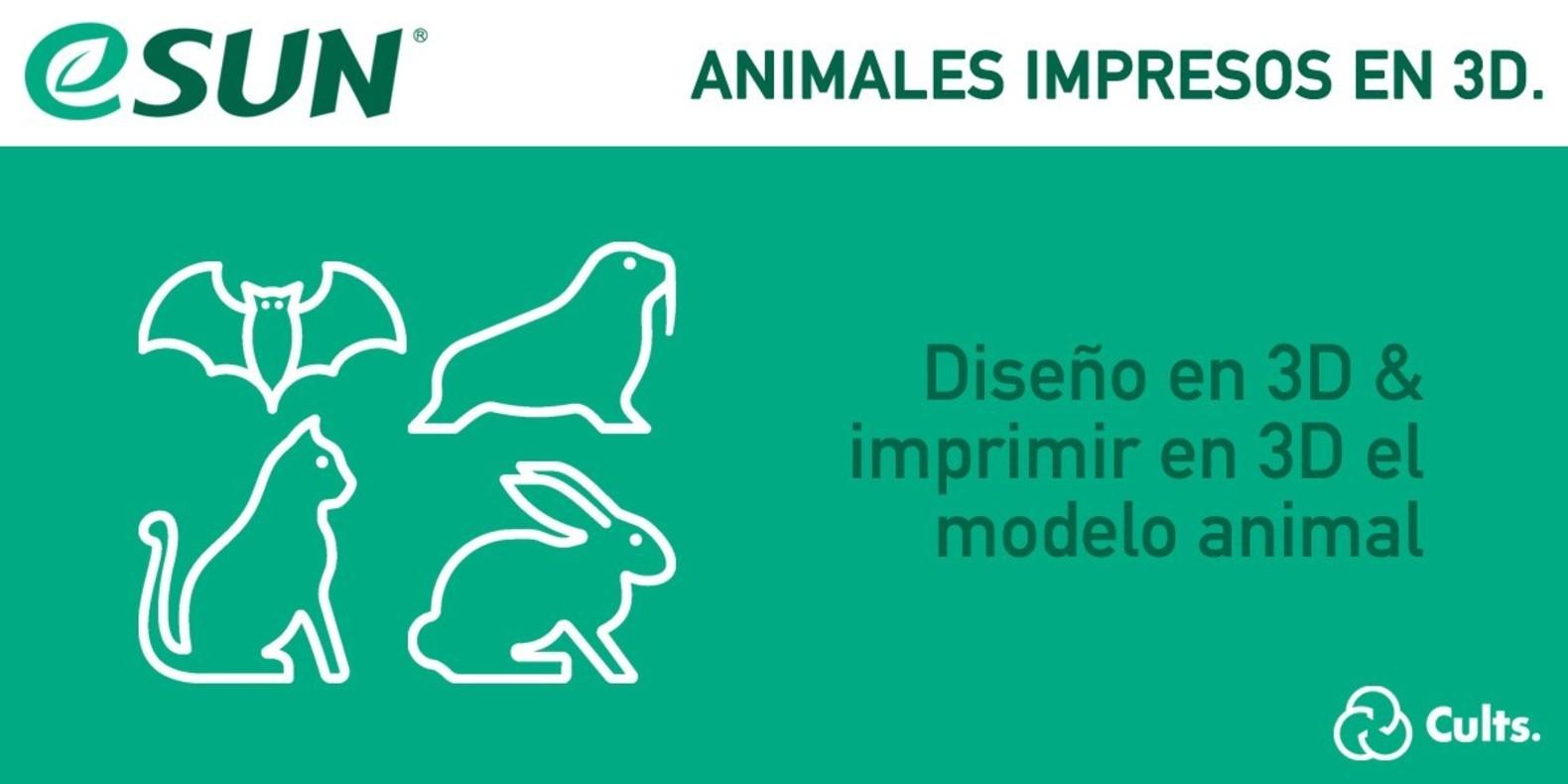 Concurso de impresión 3D con eSun - animales impresos en 3D