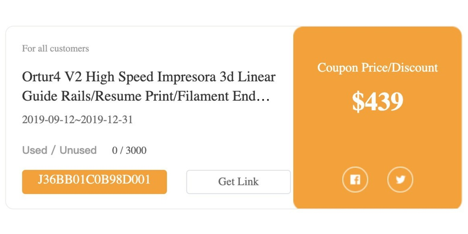 Gearbest Ortur4 V2 High Speed Impresora 3d Linear Guide Rails/Resume Print/Filament End Sensor Imprimante 3d promotion
