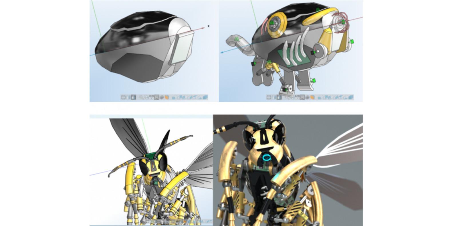 La guêpe robotique imprimée en 3D