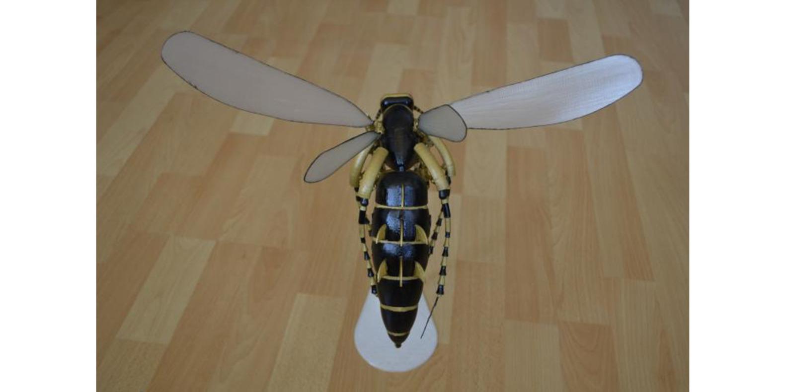 La avispa robótica impresa en 3D
