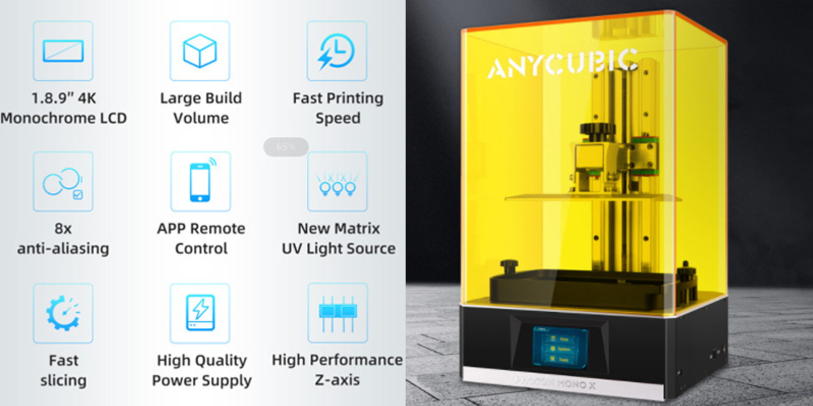 El Anycubic Photon Mono X ofrece un gran volumen y una rápida velocidad de impresión con una pantalla LCD monocroma