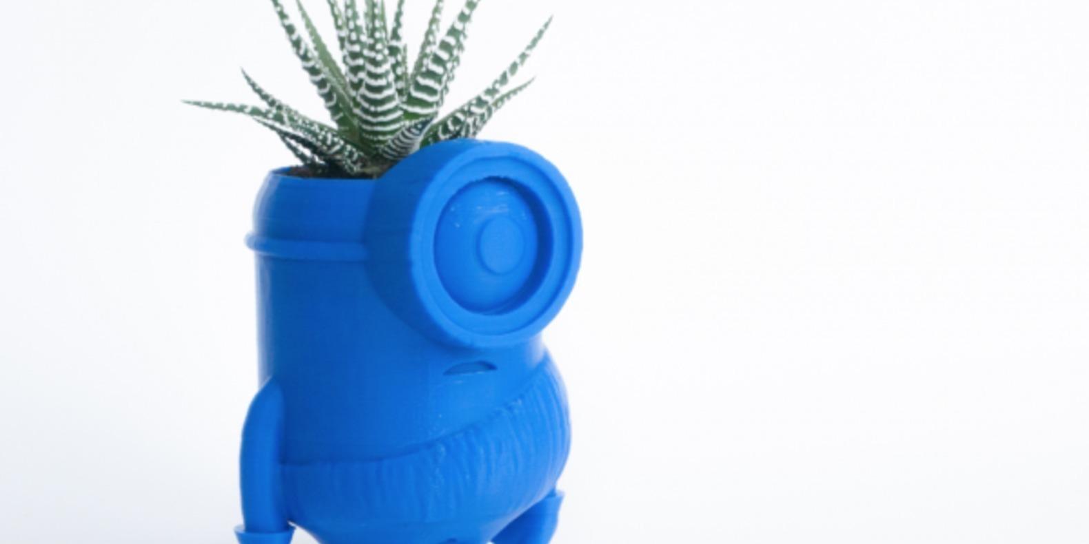 des pots de fleurs mignons imprimer en 3d cults. Black Bedroom Furniture Sets. Home Design Ideas