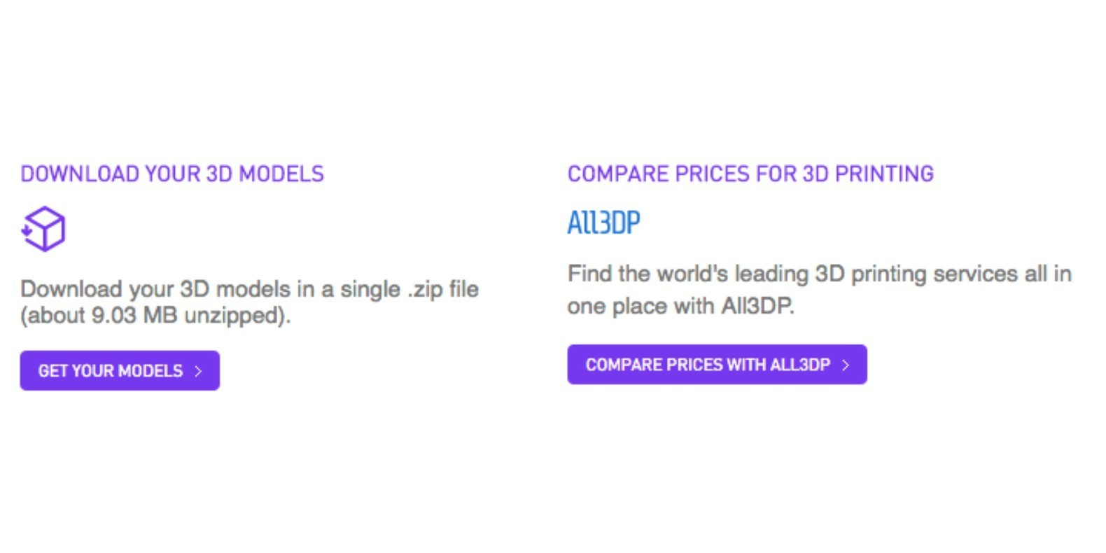 3D printing price comparison partnership All3DP Cults