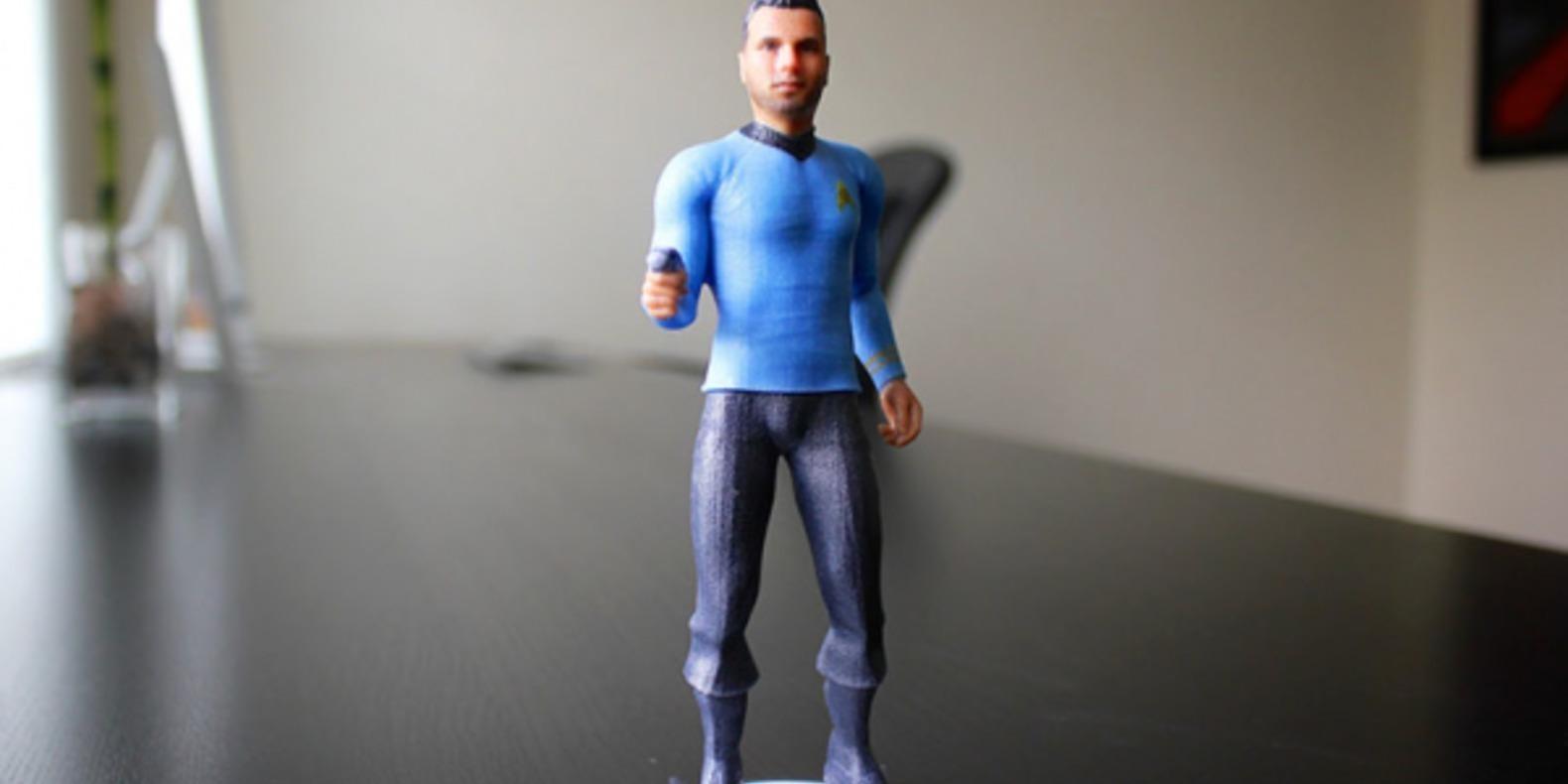 cubify 3D systems star trek 3DME impression 3D fugurines personnalisation cults fichier 3D 2