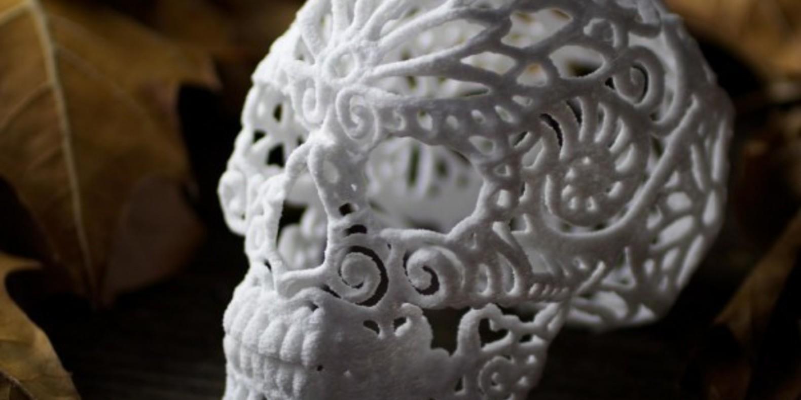 joshua josh harker designer design fichier 3D halloween sucre sugar lab skull crâne imprimé en 3D tête de mort cults cults 3D