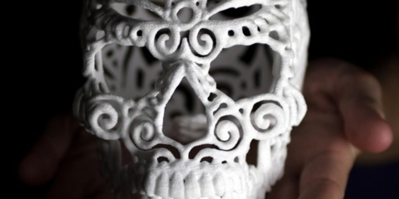 joshua josh harker designer design fichier 3D halloween sucre sugar lab skull crâne imprimé en 3D tête de mort cults cults 3D 2