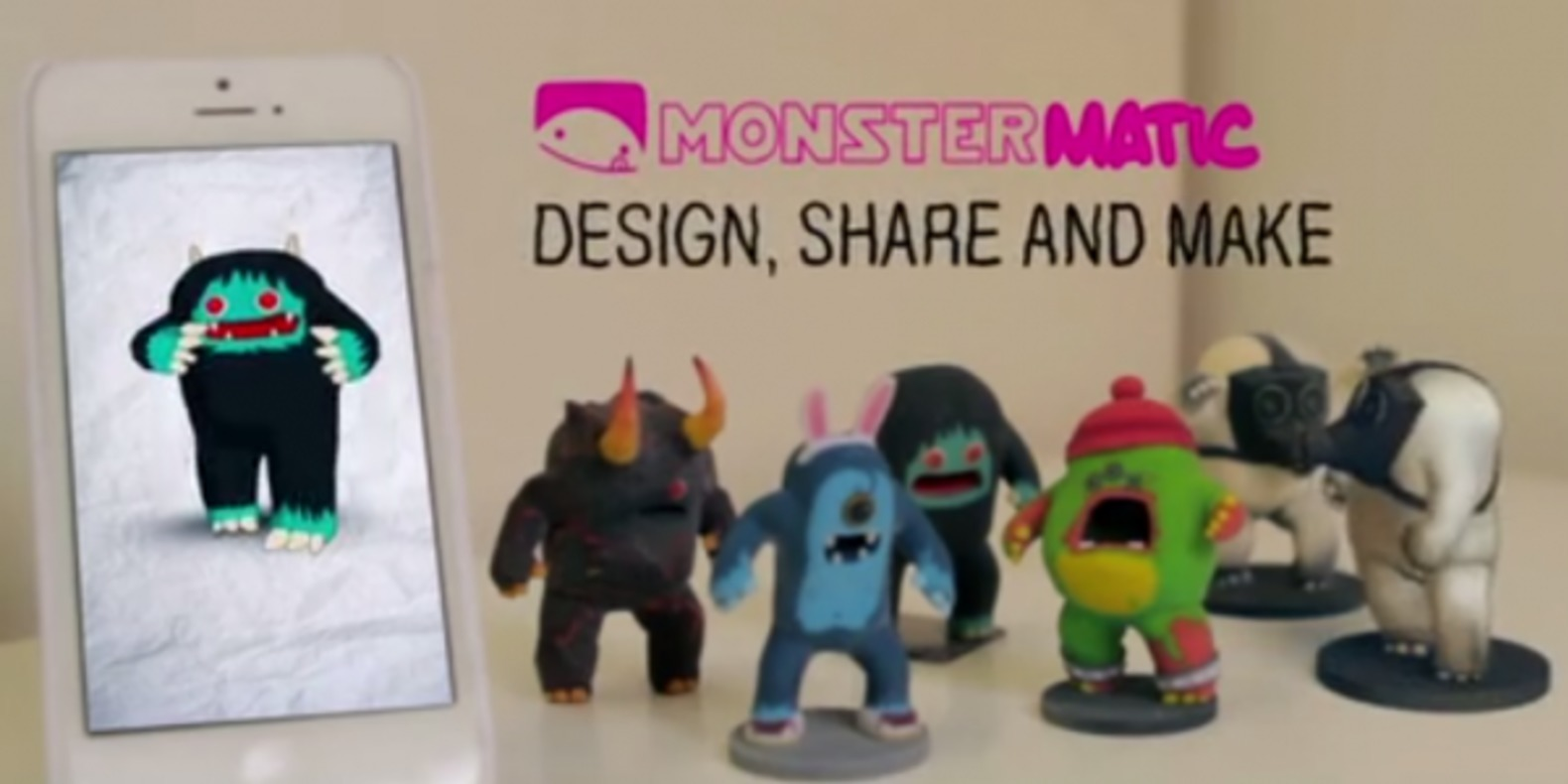 monstermatic game 3D printing printer fichier 3D object cults cults 3D kickstarter 1