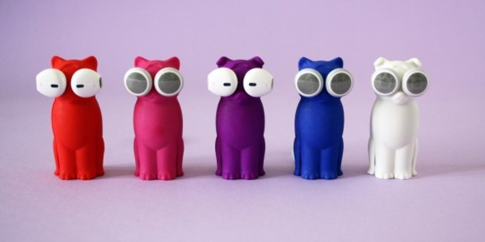 tareq mirza bud-E 3D printed printing kickstarter chien chat écouteurs imprimés en 3D puddy kitty 1