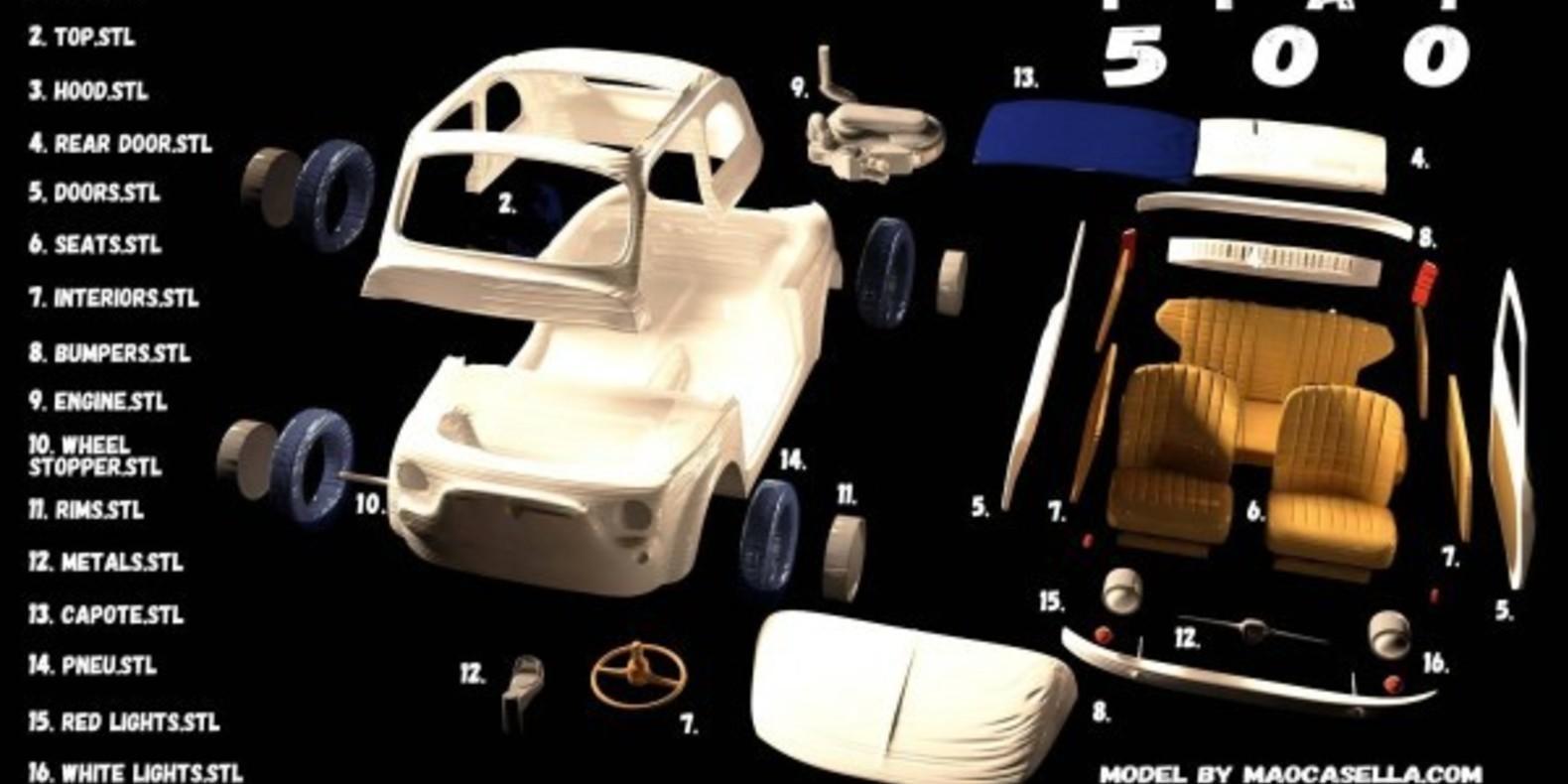Italian Sixties Car 5 - Mao Casella - Cults modélisme 3D printing Impression 3D Fichier 3D