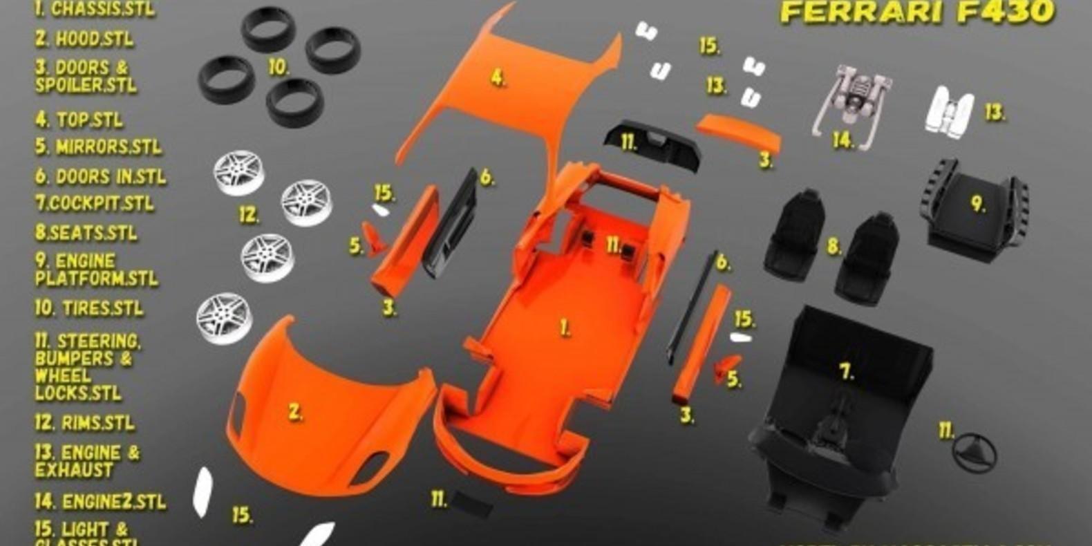 Italian Sports Car 5 - Mao Casella - Cults Cults modélisme 3D printing Impression 3D Fichier 3D