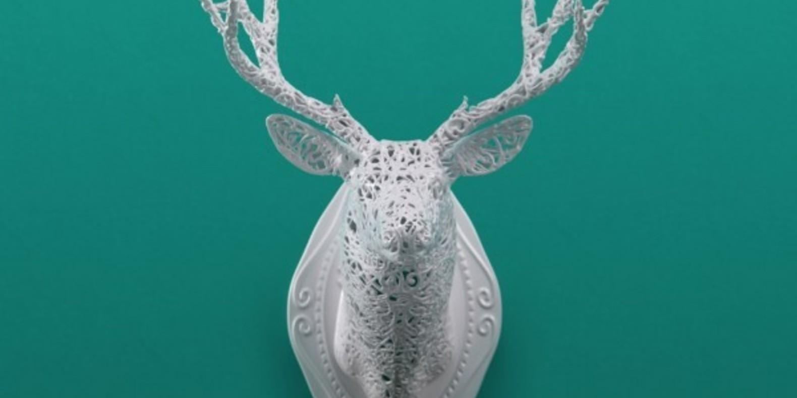 Linlin & Pierre-Yves Jacques 3D art creation print show paris 2013 deer elephant bird girafe design impression 3D cults 1