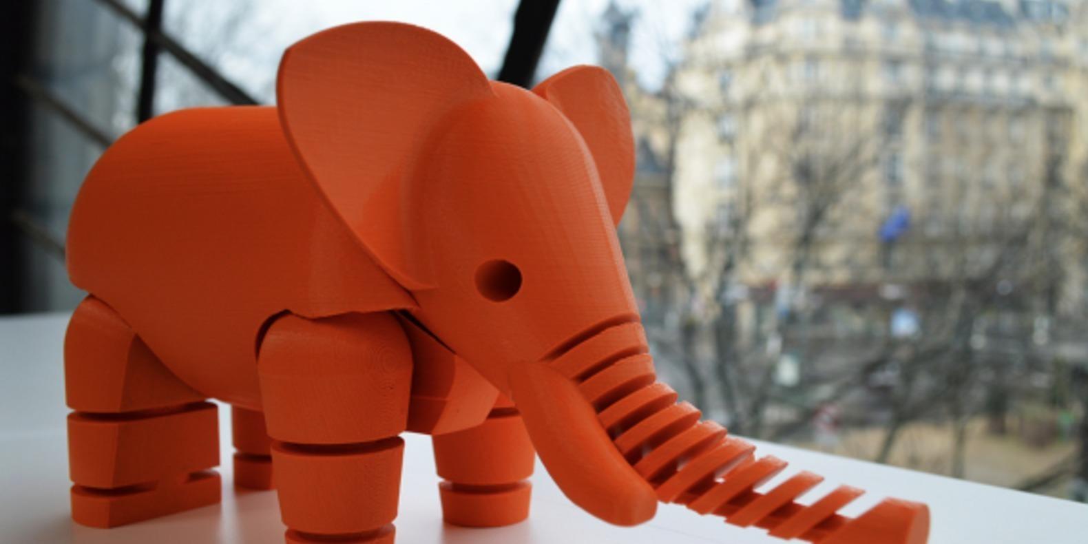 4.Elephant-leFabShop animaux imprimés en 3D Cults fichier 3D 3D model 3D printing