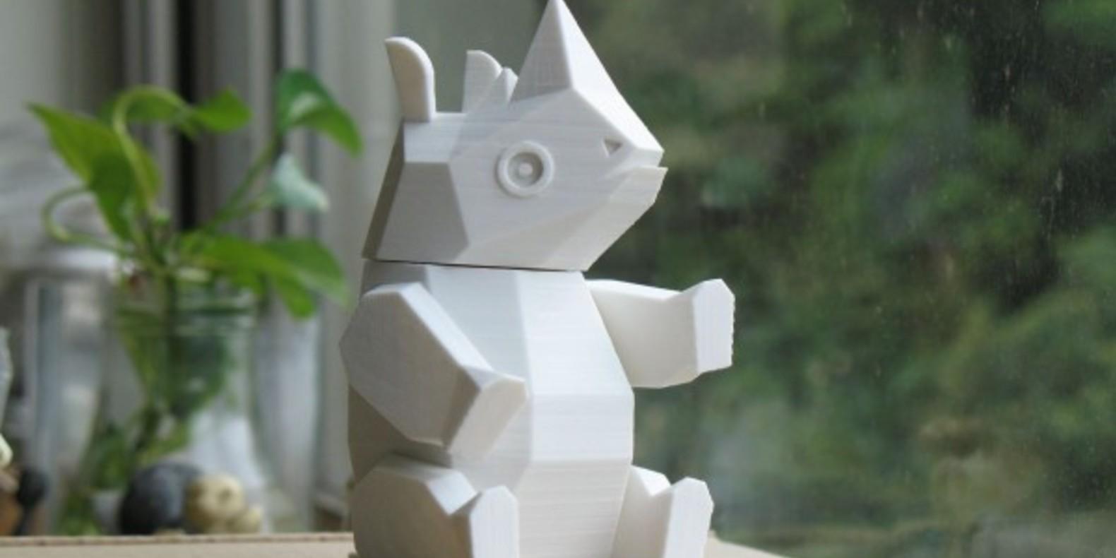 5.Rhino-Amao animaux imprimés en 3D Cults fichier 3D 3D model 3D printing