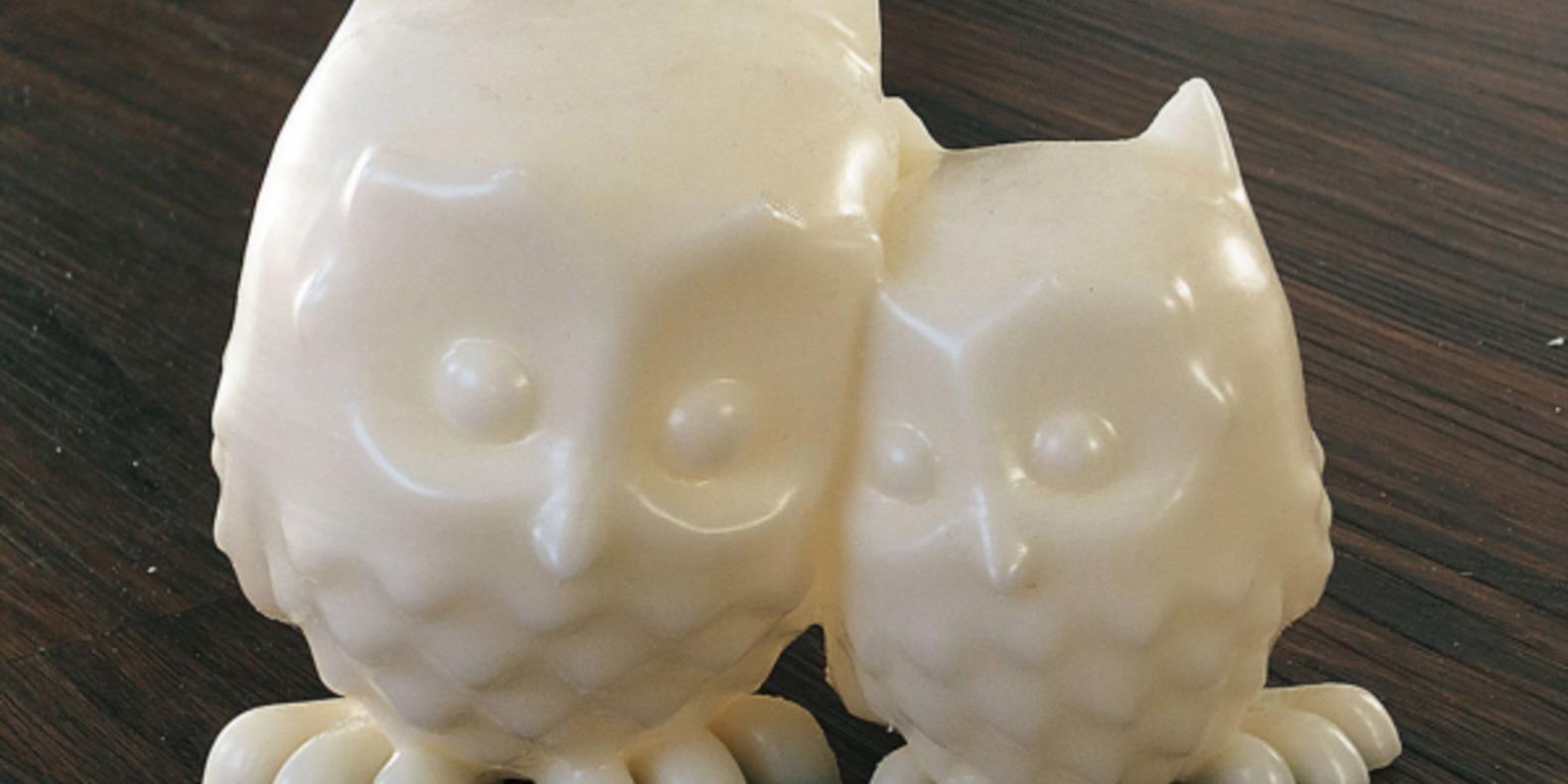 6.CuddlingOwls-Mooses animaux imprimés en 3D Cults fichier 3D 3D model 3D printing
