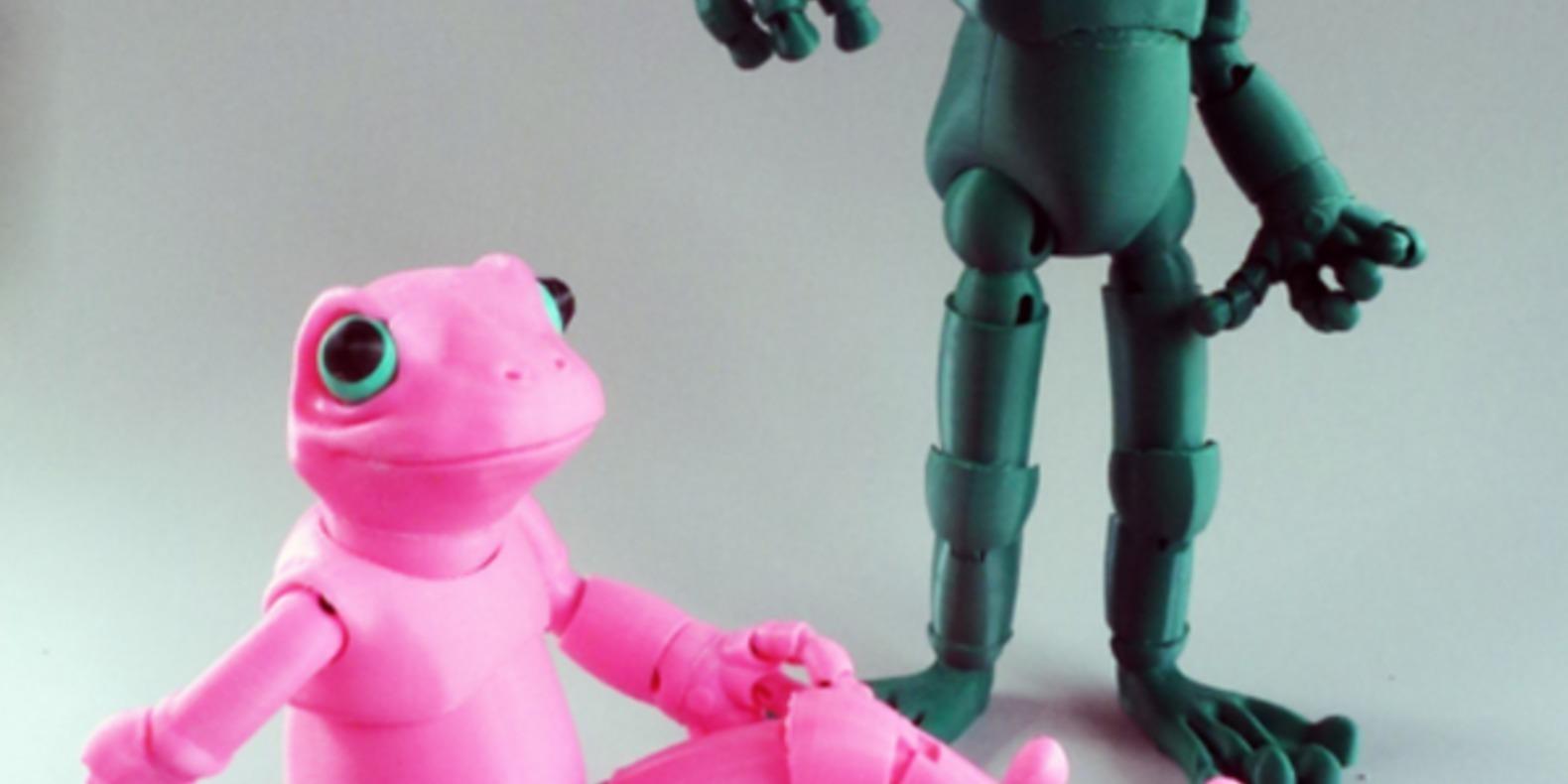 2.Froggy-Loubie animaux imprimés en 3D Cults fichier 3D 3D model 3D printing