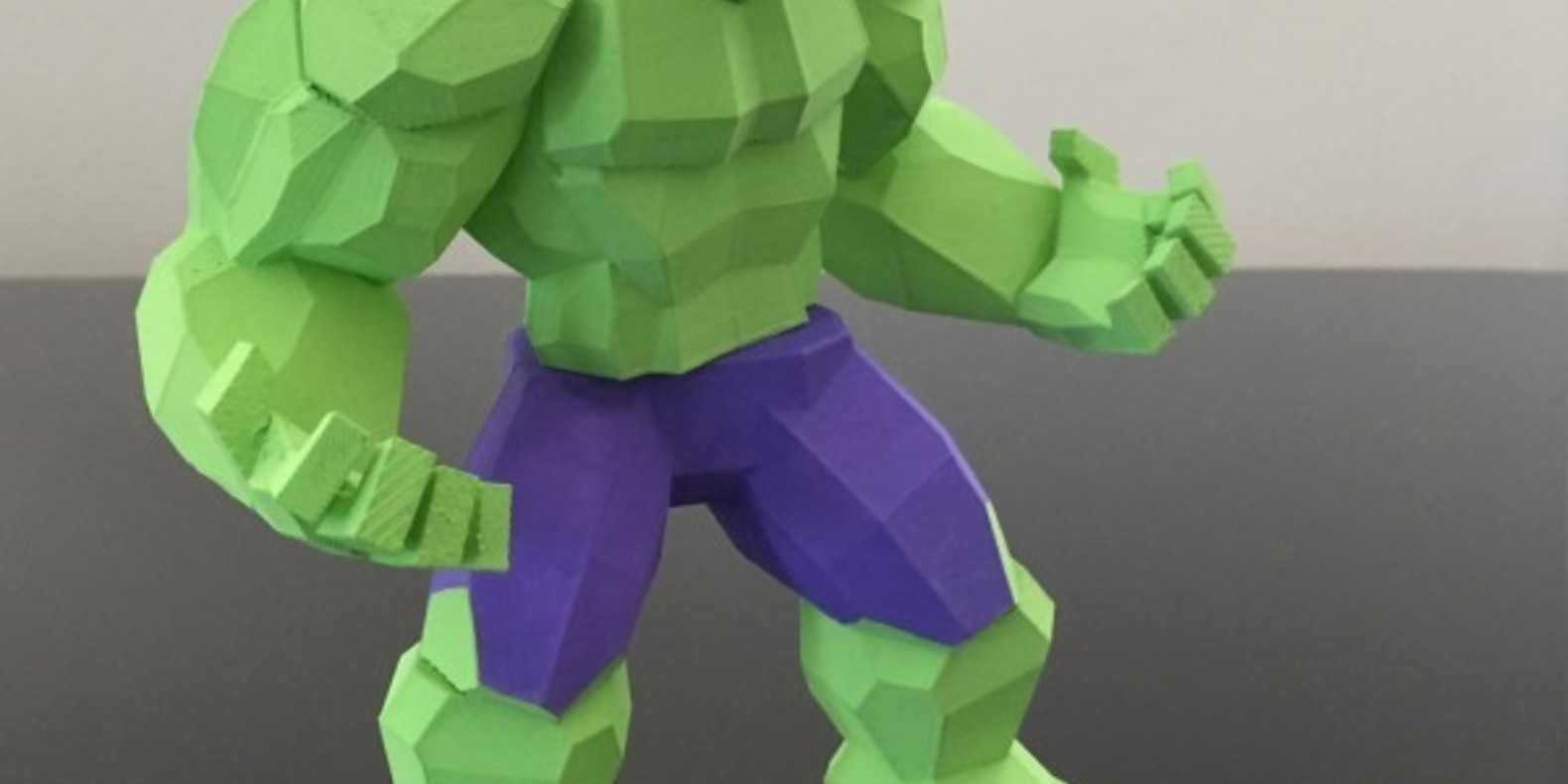 Hulk en low poly biglildesign fichier STL impression 3D 3D printing marvel