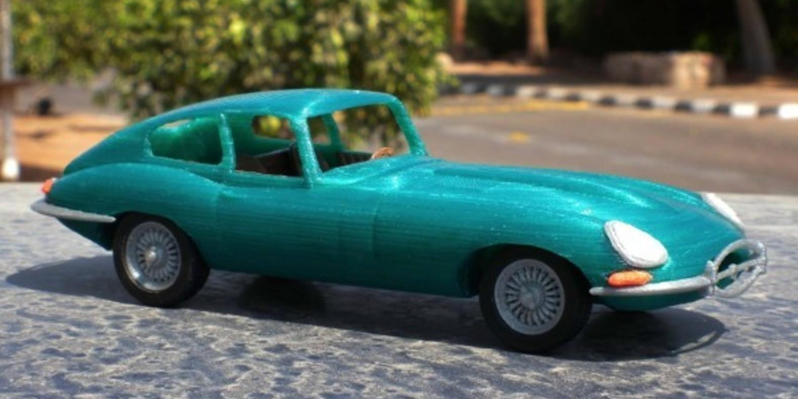 Mao casella jaguar type E maquette model 3D printed imprimé en 3D voiture car fichier STL Cults 1