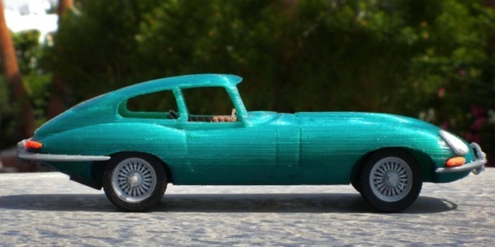 Mao casella jaguar type E maquette model 3D printed imprimé en 3D voiture car fichier STL Cults 2