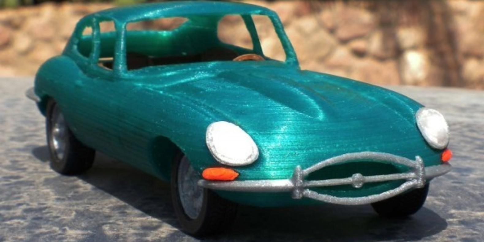 Mao casella jaguar type E maquette model 3D printed imprimé en 3D voiture car fichier STL Cults 3