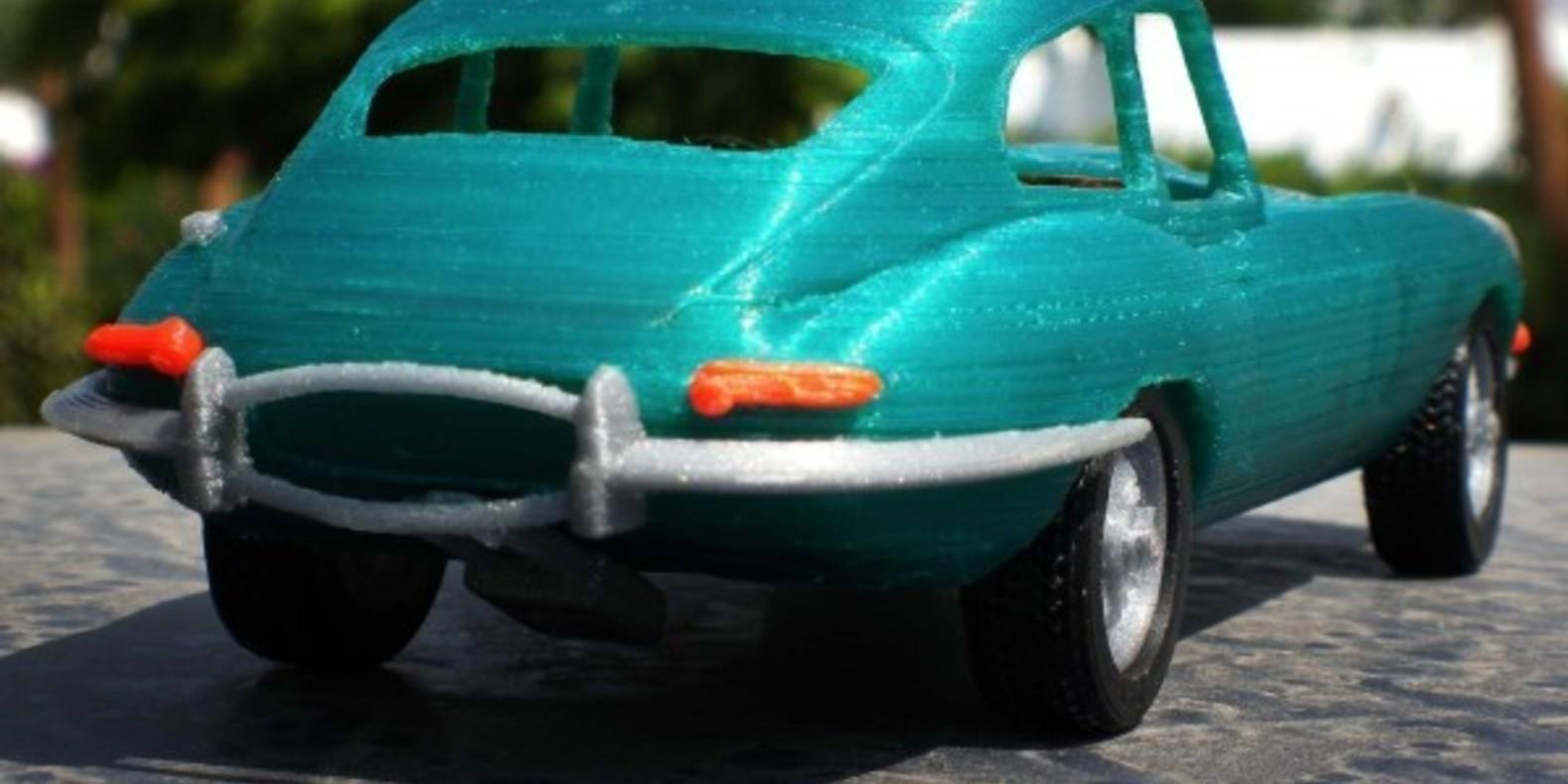 Mao casella jaguar type E maquette model 3D printed imprimé en 3D voiture car fichier STL Cults 4