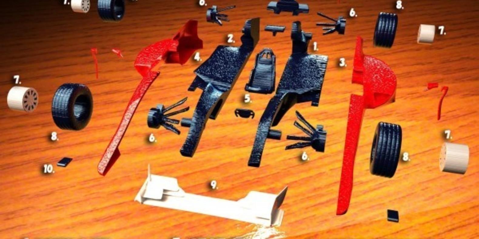 Ferrari F1 2015 mao casella maurizio 3D printed maquette model imprimé en 3D fichier STL cults 5