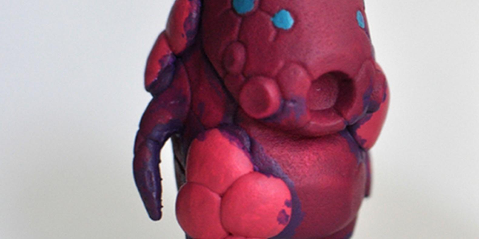 Mecha blob art toy nic meier chicago artist 3D printed imprimé en 3D stl fichier file cults 3
