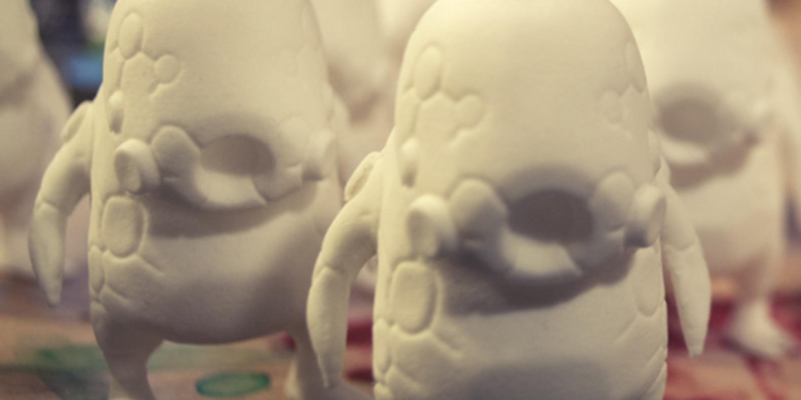 Mecha blob art toy nic meier chicago artist 3D printed imprimé en 3D stl fichier file cults 5