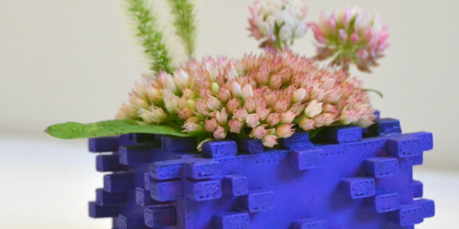 Mathematica flower pot de fleur imprimé en 3D 3D printed fichier STL cults 3