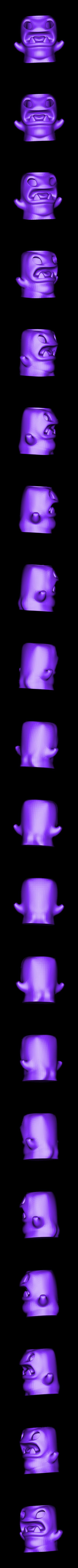 monster_pencilpot.stl Download free STL file Pencilpot Monster • 3D printable object, Cults