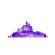 mont_saint_michel.stl Download free STL file Mont Saint Michel • 3D printable model, Cults
