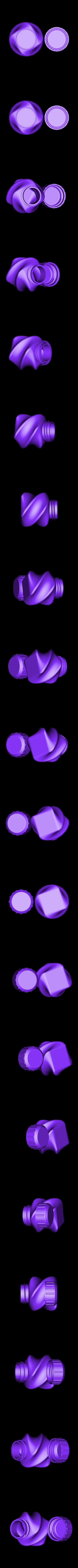 Bottle_and_Screw_Cap_45a.stl Download STL file Bottle and Screw Cap 45 AB • 3D printable template, David_Mussaffi