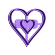 heart_in_heart_20-10-14.STL Download STL file Heart in a Heart Cookie Cutter • 3D print design, OogiMe