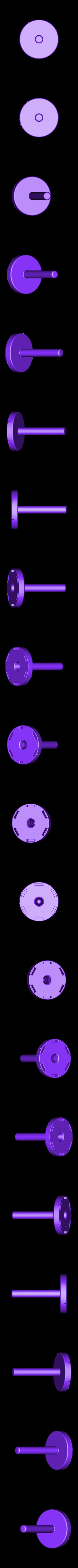 Spool_spindle.stl Télécharger fichier STL gratuit Universal stand-alone filament spool holder (Fully 3D-printable) • Objet pour impression 3D, CreativeTools
