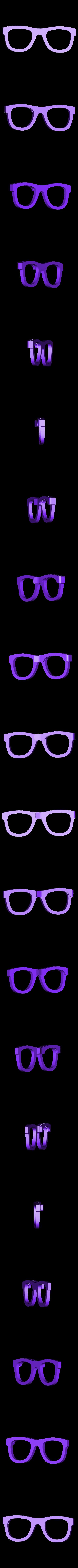 glasses_clip_support.stl Télécharger fichier STL Pince à cheveux en forme de lunettes • Modèle à imprimer en 3D, WallTosh