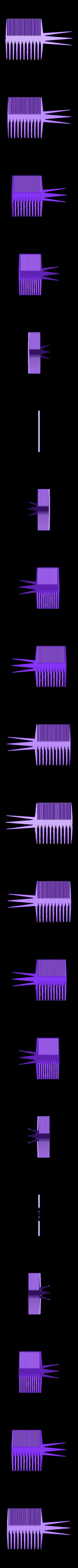 grzebien4.stl Download free STL file Perfect Comb • 3D print template, Protonik