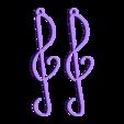 pendentif_clef_de_sol.stl Download STL file G Key Earrings • Object to 3D print, 3d-clic