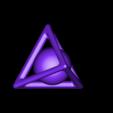 tétraèdre et sphère.stl Download free STL file Tetrahedron and captive sphere • 3D print template, NOP21