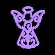 angel.STL Download STL file Christmas ornaments - pack 2 • 3D printable model, Bajmb