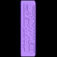 comb_swplaque.stl Télécharger fichier STL gratuit  May the 4th be With You plaque (Dual Extrusion) • Plan pour impression 3D, Geoffro