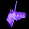 unicornio_low.stl Download free STL file Unicorn Head • 3D printer object, Atomicosstudio