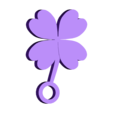 shamrock.stl Download STL file Shamrock for key Chain  • 3D printer template, LynneStevens