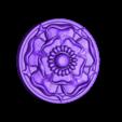 loubie_tudor_rose_simple_test.stl Download free STL file Tudor Rose Testing Piece and Pendant • 3D printer object, loubie