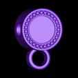 loubie_tudor_rose_chain_bead.stl Download free STL file Tudor Rose Testing Piece and Pendant • 3D printer object, loubie