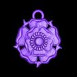 loubie_tudor_rose_pendant.stl Download free STL file Tudor Rose Testing Piece and Pendant • 3D printer object, loubie
