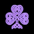 shamrock-celtic-3dprintny.stl Télécharger fichier STL gratuit Trèfle ou trèfle à 4 feuilles? • Modèle à imprimer en 3D, barb_3dprintny