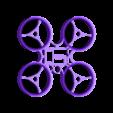 Frame quad 90mm tiny whoop  TPU .stl Download free STL file Indestructible Tiny Whoop TPU 90mm 2S • 3D printable model, Microdure