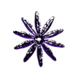 Flower Petal 2.stl Download free STL file Daisy - Flat flower • 3D printable template, mag-net