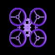 InductrixFrame_light2.stl Download STL file Inductrix / Tiny Whoop light racing frame • 3D print design, Mr_Disintegrator