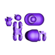 leftleg_v2.STL Télécharger fichier STL gratuit Carnivorous cannon • Plan pour impression 3D, Steyrc